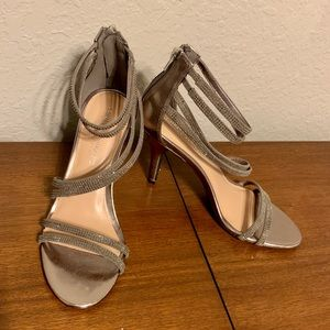 Christian Soriano Silver Studded Strappy Heels
